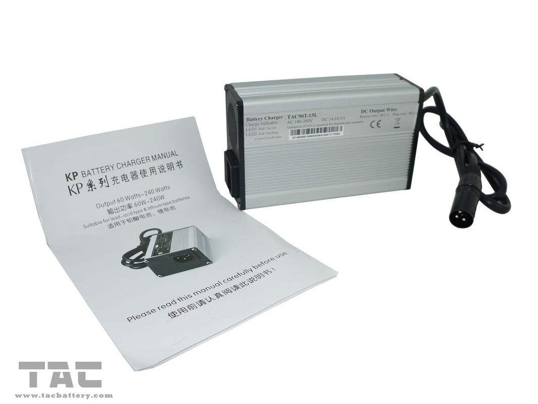 Aluminum Shell IEC Automatic Battery Chargers For LiFePO4 Battery Pack 24V / 36V